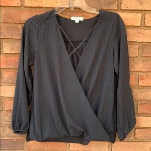 Gray Taylor and Sage Blouse